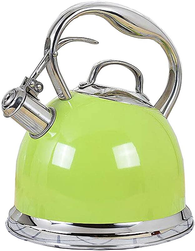 Thickened Stovetop Teakettle Kettle 304 Stainless Steel 3L Large Capacity Flat Bottom Whisker Induction Cooker Gas Universal 4 Color 24 520 518cm MUMUJIN Color Green