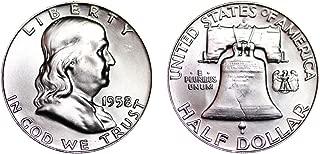1958 D BU (MS65 Plus) - Franklin Silver Half Dollar 1/2 Brilliant Uncirculated US Mint