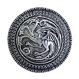 Game of Thrones, Targaryen, Dragon Shield Pin Antique Pewter