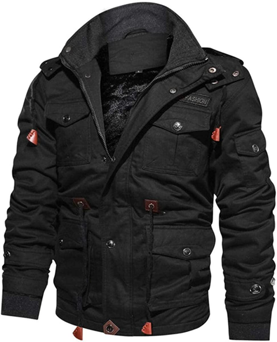 Winter Jacket Men Fleece Warm Hooded Coat Thermal Thick Outerwear Male Military