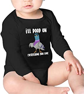 Ill Poop On Everything You Love Toddler Cotton,Long Sleeve Creeping Suit