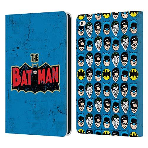 Head Case Designs Licenciado Oficialmente Batman DC Comics Logotipo Envejecido. Moda Vintage Carcasa de Cuero Tipo Libro Compatible con Apple iPad Air 2 (2014)