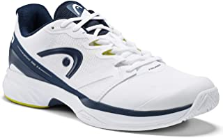 HEAD-Men`s Sprint Pro 2.5 Tennis Shoes White and Dark Blue-(726424793242)