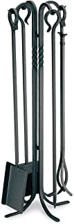 """Pilgrim Home and Hearth Tall Fireplace Tool Set, 18001, Forged Iron, Black, 39"""" Tall"""