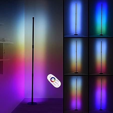 20W rgb lampadaire sur pied salon Kaigelu888 lampe de salon 130cm lampadaire led avec télécommande lampadaire dimmable pour salon chambre lampe salon lampe sur pied (A)