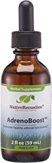Native Remedies AdrenoBoost - All Natural Herbal Supplement Promotes Healthy Adrenal Functioning - Helps Maintain Systemic Balance in The Endocrine System - 59 mL