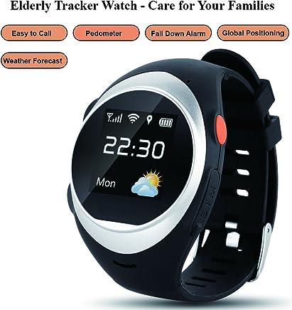 Grewtech Elderly Watch GPW03 Smart Watch GPS Tracker w/Pedometer + SOS + WiFi +