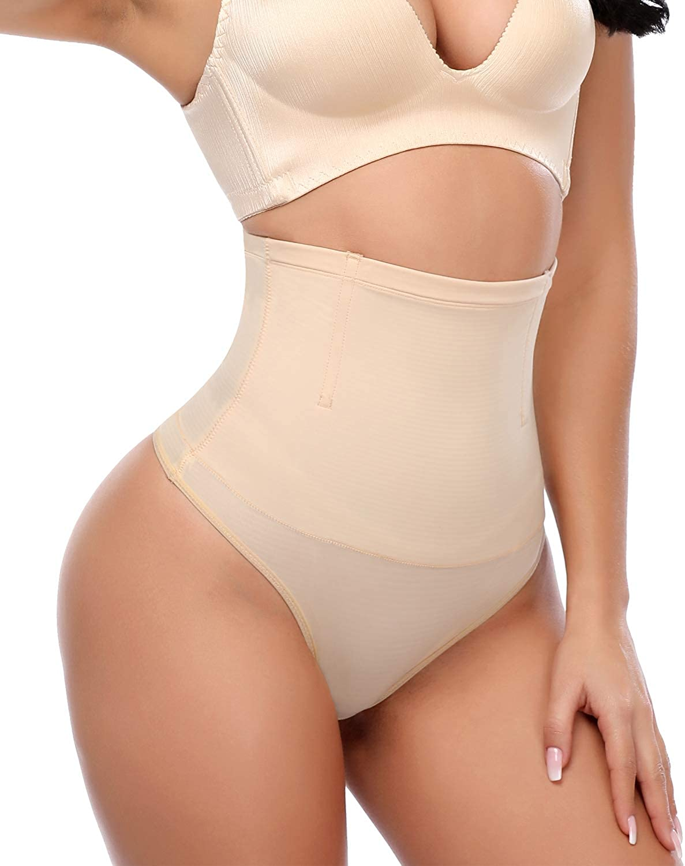 SEXYWG Women Waist Trainer Thong Shapewear Tummy Control Knicker Panty Slimmer Body Shaper