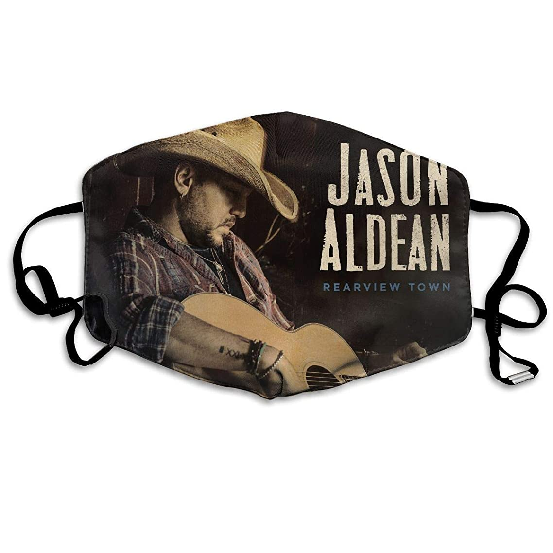 Washable Anti-dust Face Mask Jason Aldean Rearview Town Mouth Mask Reusable White