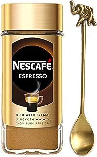 Nescafe Espresso Instant Coffee 3.5oz/100g (NESCAFE Espresso Instant Coffee with a beautiful Handmade Tea Spoon)