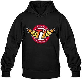 XIULUAN Men's SKTelecom T1 E-Sports Club Logo LOL Hoodied Sweatshirt Long Sleeve