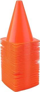Faswin 40 Pack 7 Inch Plastic Sport Training Traffic Cone, Orange