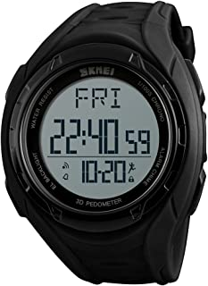 Pedometer Watch, Digital Outdoor Sports Watch for Men Women, Calories Tracker Stopwatch Countdown Military Waterproof