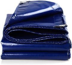 Wang Zware zeildoek blauw Tarp buiten achtertuin - Camping 100% waterdicht PVC zeildoek, dikte 0.45mm, gewicht 550g/㎡ kwal...