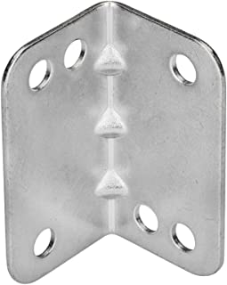 Rok Hardware Heavy Duty Metal Bracket Right Angle Brace, 20 Gauge, Zinc Finish, 50 Pack