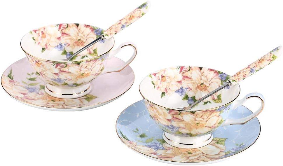 JinGlory Tea Cups Floral and Set 55% OFF China Regular dealer Suacers Bone
