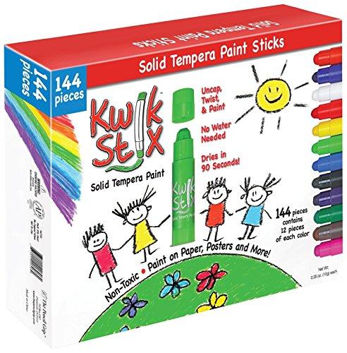 The Pencil Grip Kwik Stix 144-Piece Tempera Paint Sticks