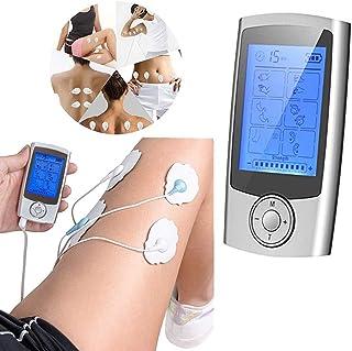 BLLJQ TENS EMS Masajeador Recargable, Reduce Dolor de Espalda, Cuello, Codo, Hombro, Nervio, Recargable por USB, Pantalla LCD, 2 Canales