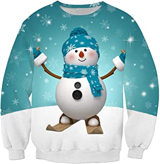 Men's Sweatshirt Christmas Shirt Cute Snowman Print Men's Unisex Daily Loose-fit Funny 3D Print Sweatshirt Men Long Sleeve...