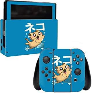 MightySkins Skin Compatible with Nintendo Switch - Feline Kawaii | Protective, Durable, and Unique Vinyl Decal wrap Cover | Easy to Apply, Remove, and Change Styles | Made in The USA