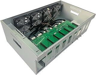 SJZERO Un bo?Tier de Mineur BTC-K86 Chassis avec 4 Ventilateurs Carte mère 8 emplacements 4 Go DDR 64 Go SSD pour l'exploi...