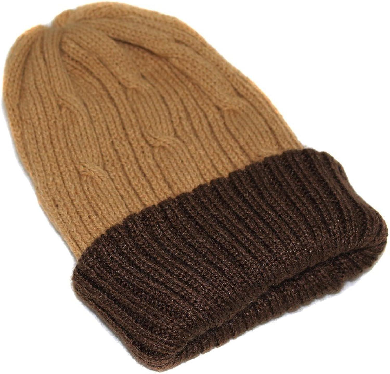 CAP HAT SKI REVERSIBLE UNISEX Alpaca Briads Handmade in Peru Camel Brown dsg 03