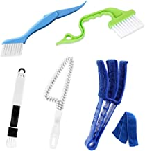 Hand-held Groove Gap Cleaning Tools Door Window Track Kitchen Cleaning Brushes,Window Blind Duster, 2-in-1 Windowsill Swee...