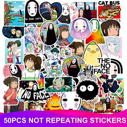 Anime Spirited Away Graffiti-sticker, waterdichte pvc, voor op de skateboard, koffer, motorfiets, laptop, waterfles, kinderstickers