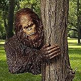 Bigfoot The Bashful Yeti Tree Statue, Whimsical Cartoon Orangutan Sculpture Tree Hugger Decor, Resin Gorilla Sculpture, Art Tree Sculpture Suitable for Indoor and Outdoor Gardens