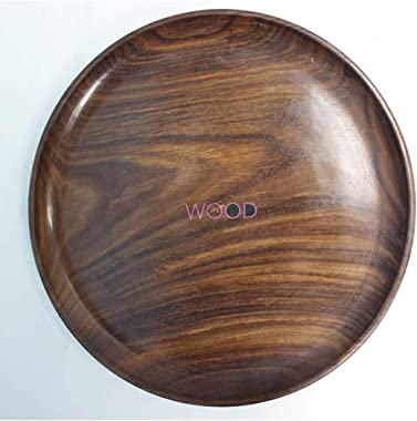 WOOD CAFE Wood Traditional Serving Bowl With Spoon, Brown