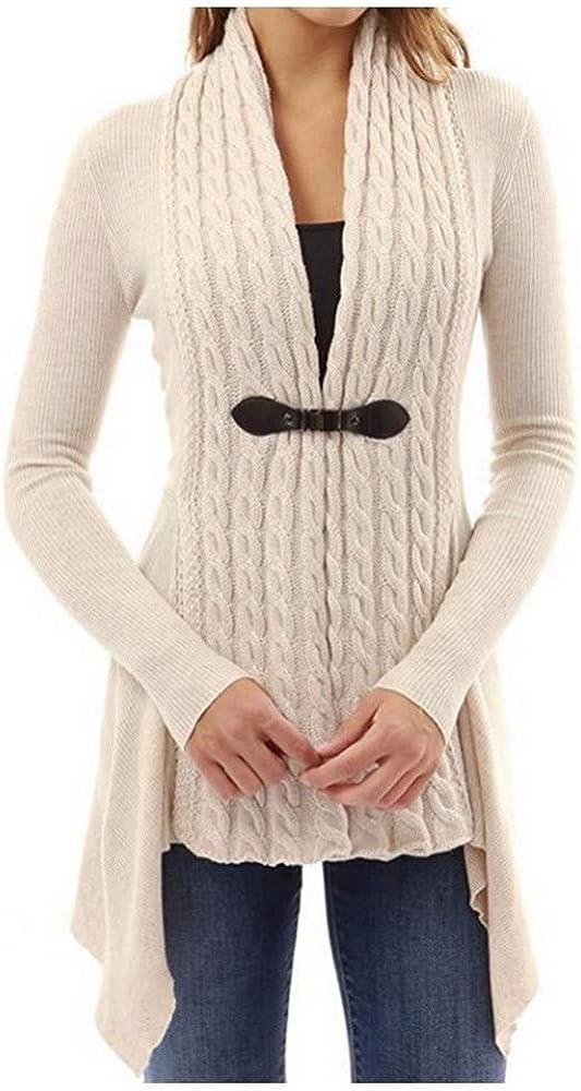 DISCOUNTL Su/éter de mujer casual de color s/ólido a rayas para se/ñoras de color gris chaqueta de solapa chaqueta de punto los productos solo incluyen ropa de abrigo