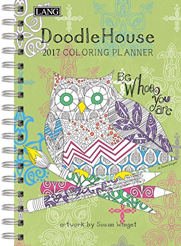 """Lang Doodle House 2017 Coloring Engagement Planner by Susan Winget, 6.25 x 9"""" (17991022020)"""