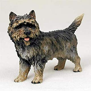 Ky & Co YesKela Cairn Terrier Figurine Hand Painted Collectible Statue Brindle