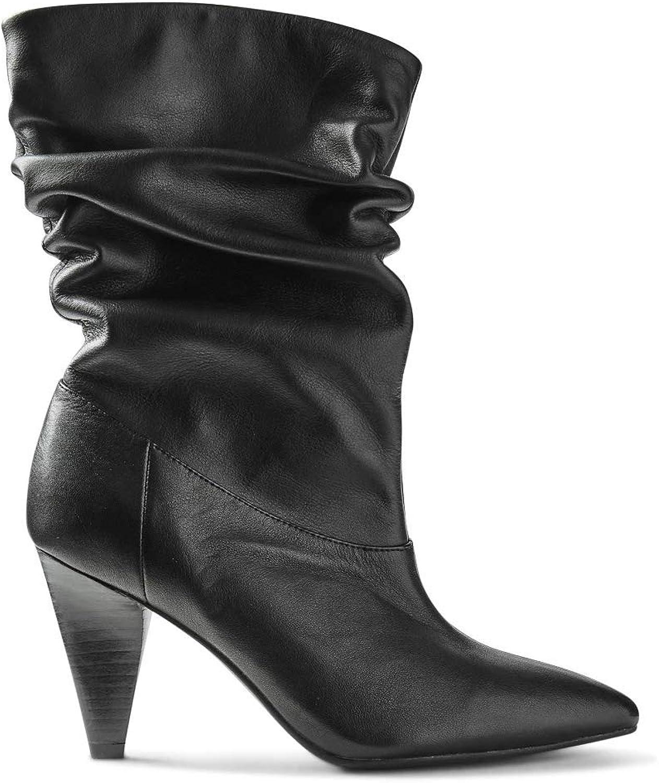 Ex Marks  Spencer T027225 MS Collection Smart Point Slouch Halbschaft Stiefel aus Leder