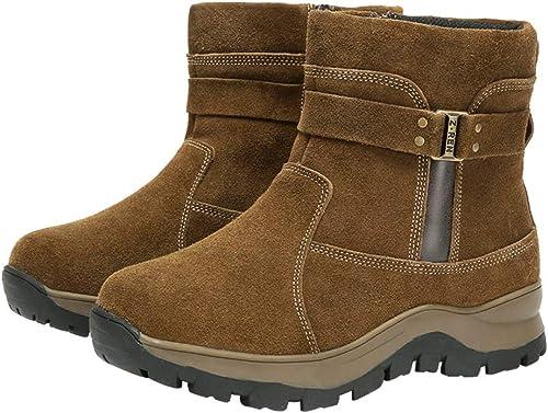 Hombre Stiefel Calzado Impermeable Piel Forrado Invierno Ligero Antideslizante Calentar Al Aire Libre Botines Tamaño : 38-45