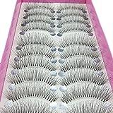 Bluelans 10 Pairs Thick Long False Eyelashes Fake Eye Lashes Makeup