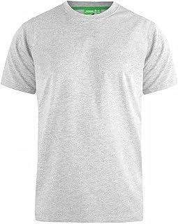 Big King Size Mens T Shirt Duke D555 New Pure Cotton Short Sleeved Crew Neck Top