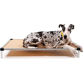 K9 Ballistics Chew Proof Elevated Dog Bed, Chew Resistant Indestructible Dog Cot, Large, Medium, Small Sizes for Indoor or Outdoor Dogs Who Chew Their Beds, Waterproof with Aluminum Frame