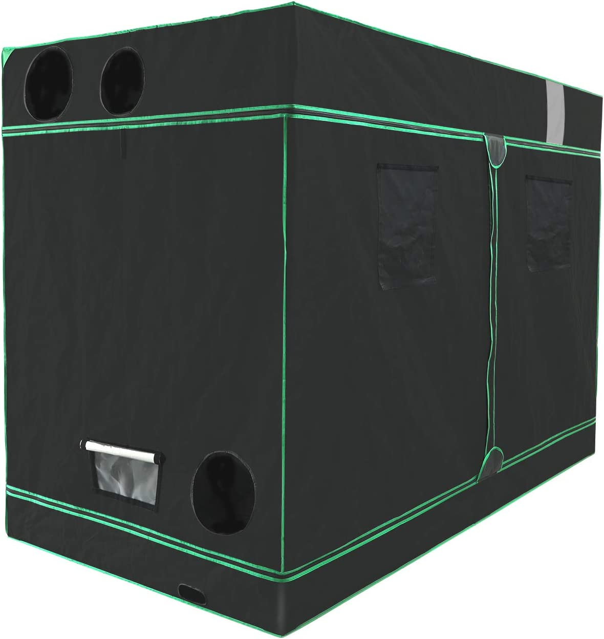HORTIPOTS Grow Tent 4x8 Revolutionary Fix-onto-Pole Side Support Bars 48x96x79 inch Mylar Grow Room 120x240x200cm