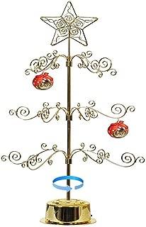 HOHIYA Christmas Ornament Display Tree Stand Metal Dog Cat Glass Ball Bauble Rotating 24inch(Gold)