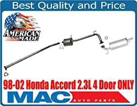 fits 1998-2002 Honda Accord Sedan 2.3L Stainless Steel Exhaust Resonator Pipe