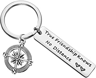 Best Friend Gift Keychain for Women Men Teen Girls True Friendship Long Distance Friendship Friends Leaving Gifts Going Aw...