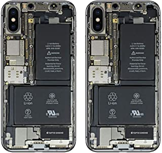 iPhone X Skin, Color Print Oil-Proof Sticker Back Protect Film 2 Pack (Black)