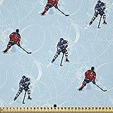 ABAKUHAUS Sport Stoff als Meterware, Eishockey-Muster