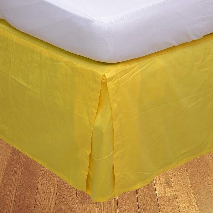 回復する素敵な誠実さSinghのTextiles 1豪華なベッドベッドスカート、100?%エジプト綿600スレッドカウントのパターンソリッド、簡単フィット8?