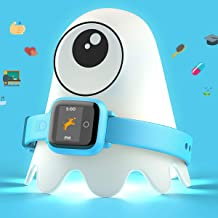 New - Octopus Kids Smart Watch v2 - Blue - Plan Activities, Responsibilities and Healthy Habits - Fitness Tracker and Electronic Daily Schedule - Night Light Included