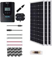 Renogy 300 Watt 12 Volt Off Grid Premium Monocrystalline Solar Panel and 40A MPPT Rover Controller/Mounting Z Brackets Adaptor Kit/Tray Cables Set /MC4 Fuse, 300W-40A