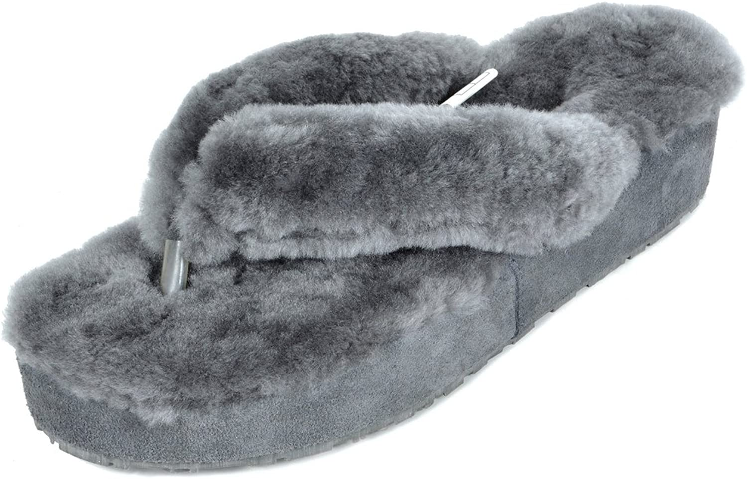 DREAM PAIRS Women's New Spa-02 Flip Flop Fluffy Comfy Winter Slippers