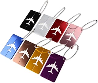PIXNOR Metal Travel Luggage Tags Suitcase Tags with Strings Pack of 8