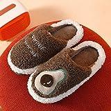 XZDNYDHGX Zapatillas Unisexo Invierno,Zapatillas de algodón, Zapatos caseros para Pareja, Chanclas de Felpa Suave para Interior para Mujer, marrón Acogedor EU 39-40